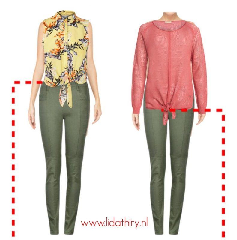 Horizontale lijnen zijn blikvangers – lijnen in kleding (3)