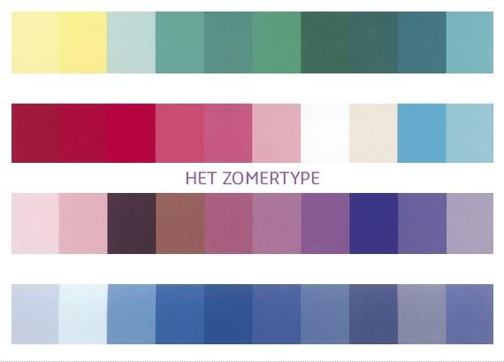 Zomertype – hoe gebruik je de kleurenkaart